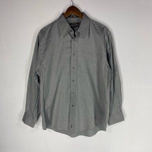 Nordstrom Grey Button Front Collared Shirt 16/33